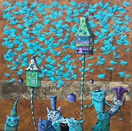 Obraz do salonu artysty Magdalena Rytel-Skorek pod tytułem POWRÓT Z IMIENIN