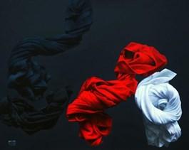 Obraz do salonu artysty Agnieszka Sitko pod tytułem CAŁUNY - KWARTET
