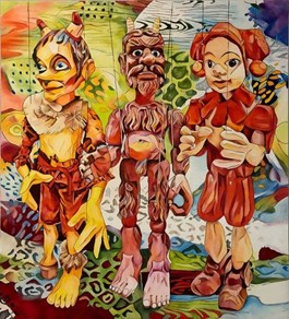 Obraz do salonu artysty Joanna Szumska pod tytułem MARIONETKI