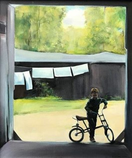 Obraz do salonu artysty Jan Dubrowin pod tytułem ROWEREK