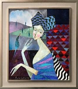 Obraz do salonu artysty Jan Bonawentura Ostrowski pod tytułem DZIEWCZYNA Z TOSKANI