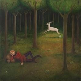 Obraz do salonu artysty Malwina de Brade pod tytułem PODRÓŻNY
