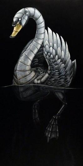 Obraz do salonu artysty Emil Goś pod tytułem ŁABĘDŹ NIEMY
