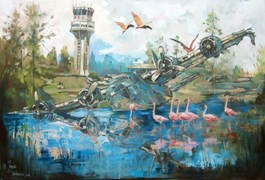 Obraz do salonu artysty Janusz Orzechowski pod tytułem DWIESCIE DZIESIĘĆ LAT PÓŹNIEJ