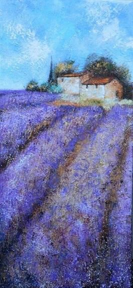 Obraz do salonu artysty Alicja Kappa pod tytułem LAWENDOWY HORYZONT