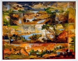 Grafika do salonu artysty Krzysztof Wieczorek pod tytułem CZAS TERAŹNIEJSZY DOKONANY