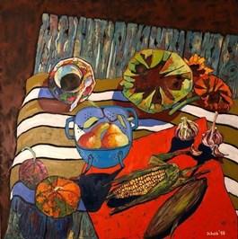 Obraz do salonu artysty David Schab pod tytułem WIEJSKI STÓŁ