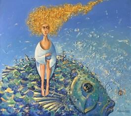 Obraz do salonu artysty Aleksander Yasin pod tytułem ZŁOTOWŁOSA