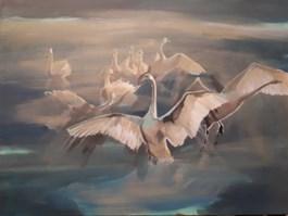 Obraz do salonu artysty Marta Szarek-Michalak pod tytułem SWANS