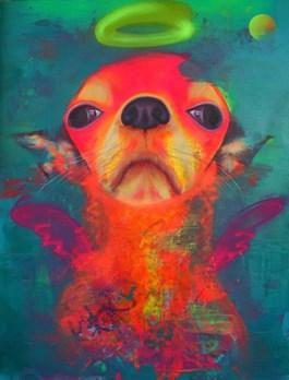 Obraz do salonu artysty Campio pod tytułem MAJESTIC DOG ANGEL