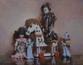 Obraz do salonu artysty Timur Karim pod tytułem Z CYKLU PUPPET SHOW