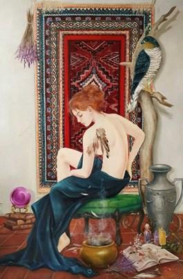 Obraz do salonu artysty Patrycja Kruszynska-Mikulska pod tytułem WITCHCRAFT