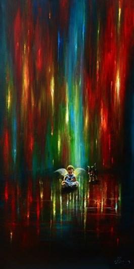 Obraz do salonu artysty Agata Buczek pod tytułem ZNUDZONY ANIOŁ STRÓŻ