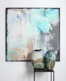 Obraz do salonu artysty Joanna Roszkowska pod tytułem COLD (obraz i rzeźba)