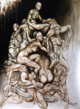 Obraz do salonu artysty Wojciech Pelc pod tytułem PIRAMIDA