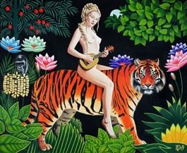 Obraz do salonu artysty Daniel Porada pod tytułem TRIBUTE TO ROUSSEAU