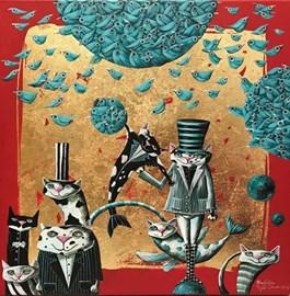 Obraz do salonu artysty Magdalena Rytel-Skorek pod tytułem CZARODZIEJE