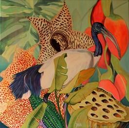 Obraz do salonu artysty Janina Zaborowska pod tytułem CZARNOPIÓRY