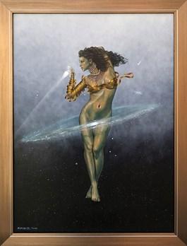 Obraz do salonu artysty Mariusz Zdybał pod tytułem GRA W KOMETKĘ