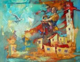 Obraz do salonu artysty Alex Sporski pod tytułem MUZYKA DUSZY