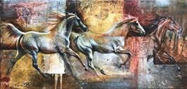 Obraz do salonu artysty Kamila Karst pod tytułem GALOP