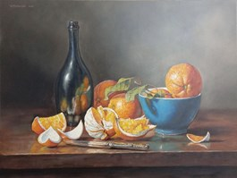 Living room painting by Wojciech Piekarski titled ORANGE