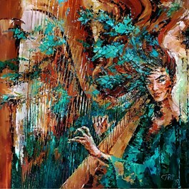 Obraz do salonu artysty Krystyna Róż-Pasek pod tytułem MAGNETYZM