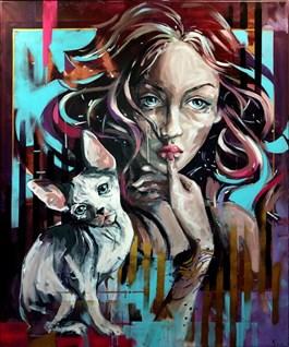 Obraz do salonu artysty Kamila Jarecka pod tytułem KOTKA