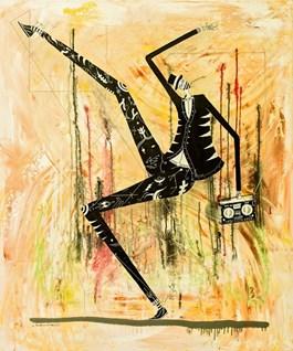 Obraz do salonu artysty Mikołaj Rejs pod tytułem IT'S TIME FOR SILLY WALKS