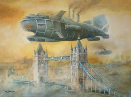 Obraz do salonu artysty Arkadiusz Mężyński pod tytułem LONDON - NEW YORK PASSENGER LINER