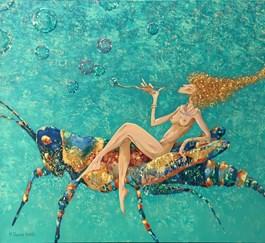 Obraz do salonu artysty Aleksander Yasin pod tytułem KONIK POLNY