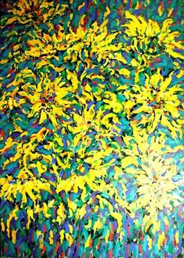 Obraz do salonu artysty Adam Bojara pod tytułem SŁONECZNIKI