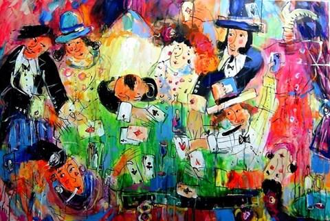 Obraz do salonu artysty Dariusz  Grajek pod tytułem POKER
