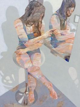 Obraz do salonu artysty Adam Wątor pod tytułem PRZY LUSTRZE 1