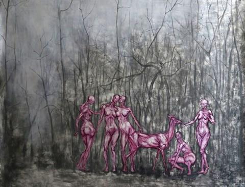 Obraz do salonu artysty Wojciech Pelc pod tytułem NIMFY