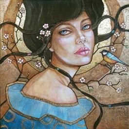 Obraz do salonu artysty Joanna Misztal pod tytułem KWIATY WIŚNI