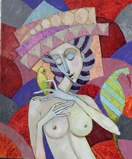 Obraz do salonu artysty Jan Bonawentura Ostrowski pod tytułem AKT KOBIECY