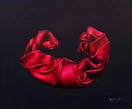 Obraz do salonu artysty Agnieszka Sitko pod tytułem SZKARŁATNY 1