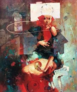 Obraz do salonu artysty Wacław Sporski pod tytułem CZERWONY ZACHÓD