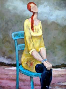 Obraz do salonu artysty Henryk Trojan pod tytułem OCZEKIWANIE