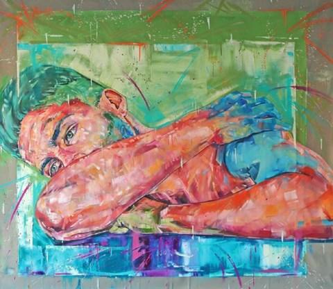 Obraz do salonu artysty Bastien Ducourtioux pod tytułem LAZY DAY
