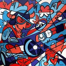 Obraz do salonu artysty Marcin Gregorczuk pod tytułem BLUBIRD MPOWER