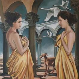 Obraz do salonu artysty Adam Kubka pod tytułem ZAGINIONE ŚWIATY