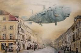 Obraz do salonu artysty Arkadiusz Mężyński pod tytułem NEW WORLD