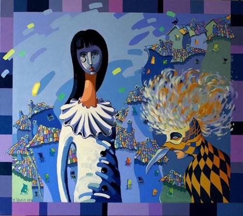 Obraz do salonu artysty Aleksander Yasin pod tytułem KARNAWAŁ
