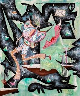 Obraz do salonu artysty Mikołaj Rejs pod tytułem SPACE COWBOY