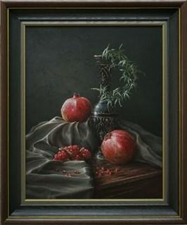 Obraz do salonu artysty Wiktor Juszkiewicz pod tytułem DOJRZAŁE GRANATY