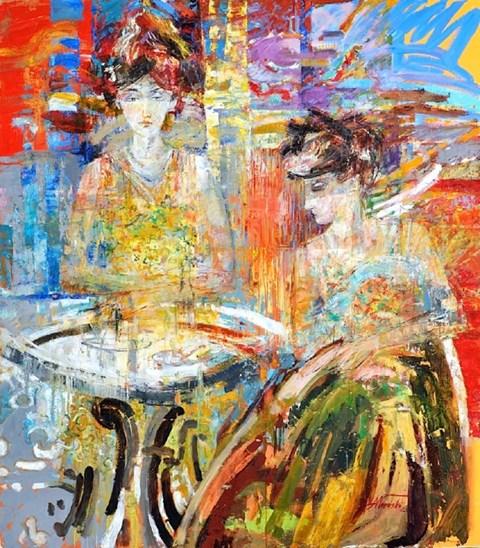 Obraz do salonu artysty Andrzej Wroński pod tytułem W KAWIARNI