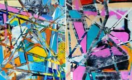 Obraz do salonu artysty Magdalena Karwowska pod tytułem MIASTO 05 i 055