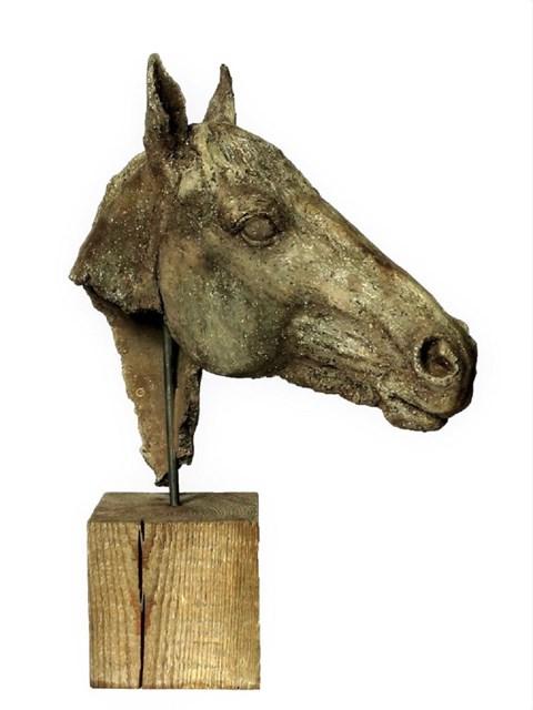 Rzeźba do salonu artysty Ewa Jaworska pod tytułem GŁOWA